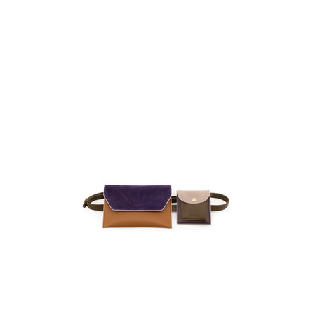 belt bag olive green + grape purple