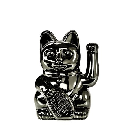 lucky cat glossy black