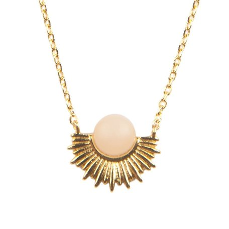 galaxy necklace pastel rose quartz sun