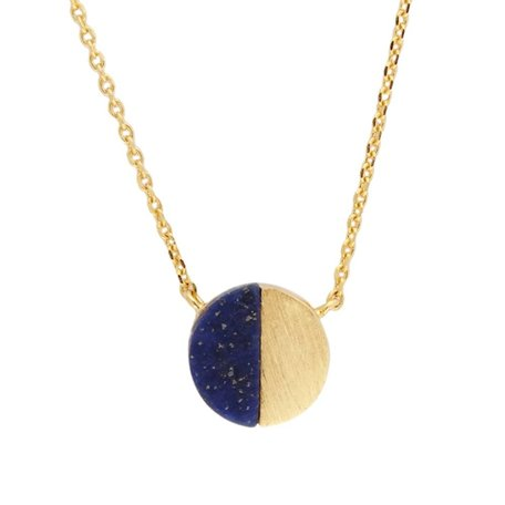 galaxy necklace moon c blue lapis lazuli