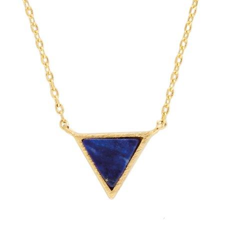galaxy necklace triangle blue lapis lazuli