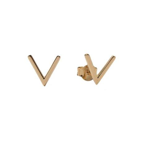 parade earrings V gold