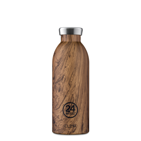 clima bottle sequoia wood 500ml