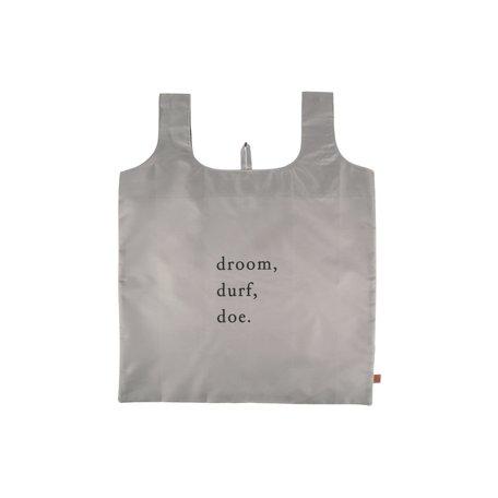 """opvouwbaar tasje """"droom.durf.doe"""""""