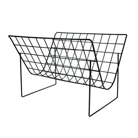 AHA5504 metal wire magazine rack matt black