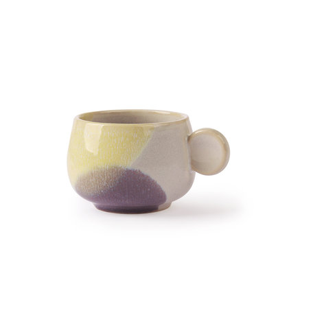 coffee cup yellow/lilac