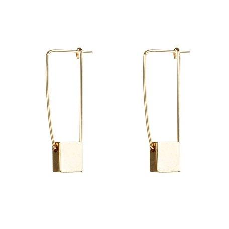 gold cube earrings