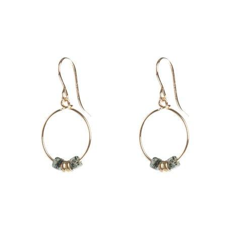 jasper round earrings