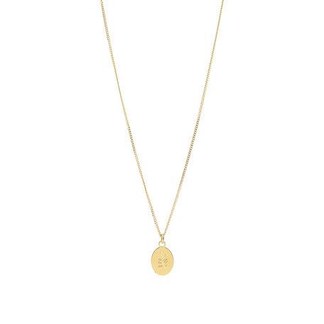 necklace olive leaf - slow down gold