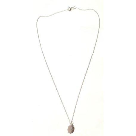necklace olive leaf - slow down silver