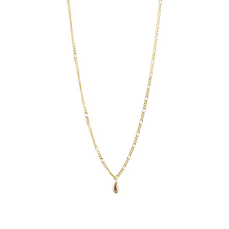 Copy of necklace olive leaf - slow down gold