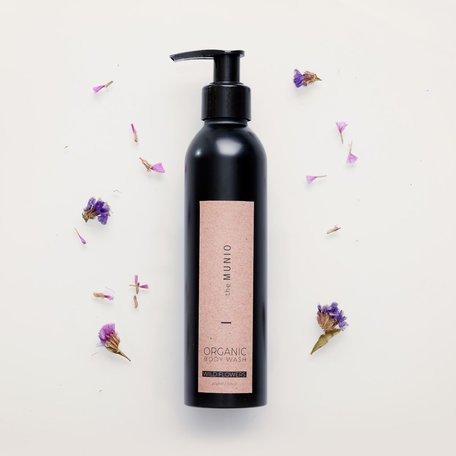 organic body wash wild flowers