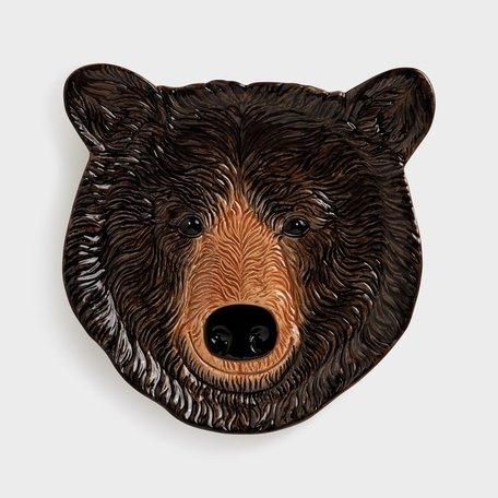 Plate black bear