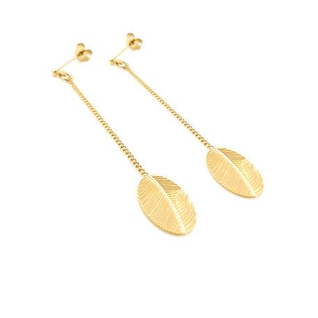 palm02 long earrings chain