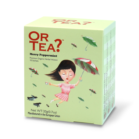 or tea? 10 sachets merry peppermint