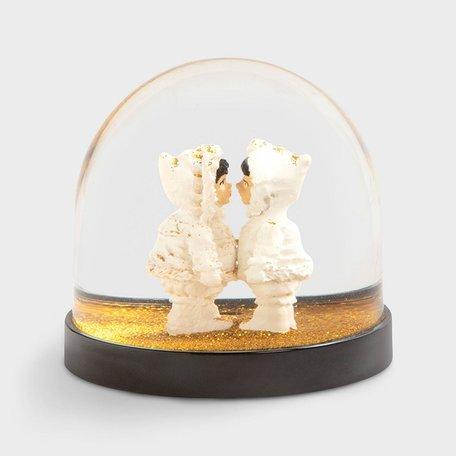 wonderball eskimo gold glitter