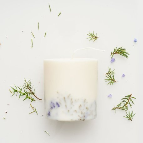 soy wax candle L Munio candela juniper & limonium