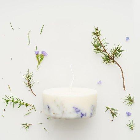 mini soy wax candle juniper & limonium