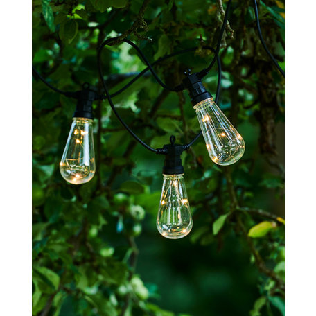 Lasse start set 10 bulbs clear, black