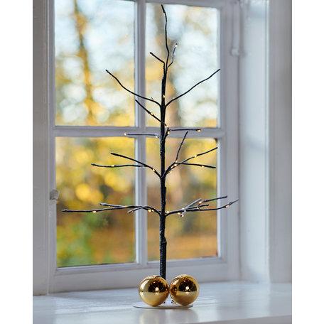 kira tree H50cm brown/snowy