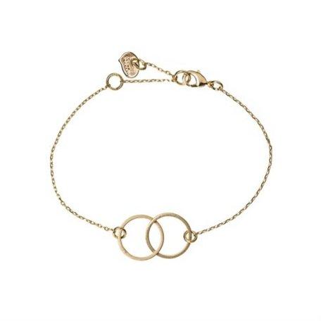 double circle bracelet gold