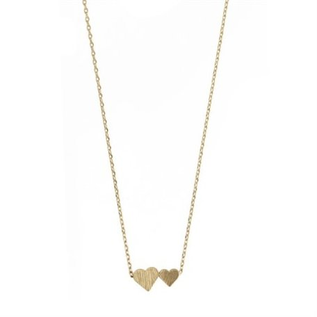big and small hearts necklace gold 8323602