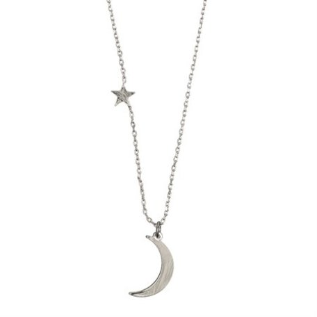 moon and stars  necklace silver 8324101