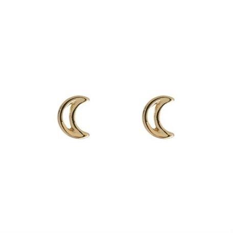 moon outline earrings gold 8323402