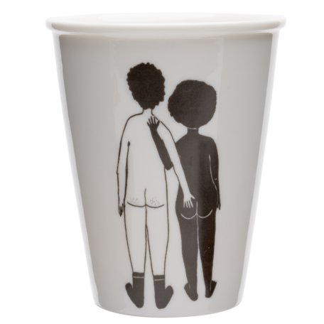 cup white man and black woman