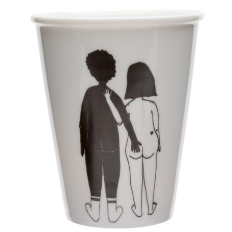 cup black man white woman