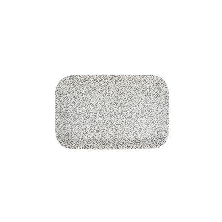 melamine dienblad spikkels zand 29 x 19cm