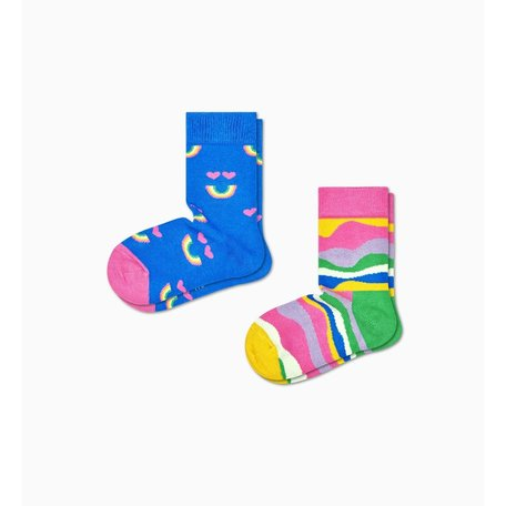 2 pack kids rainbow smile socks pack
