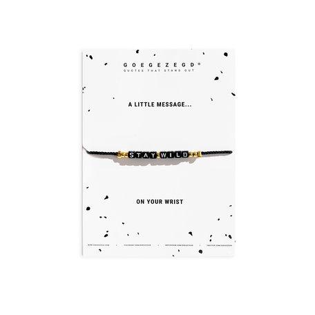 stay wild  q-bracelet
