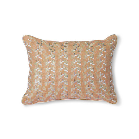 TKU2097 cushion with silver patches