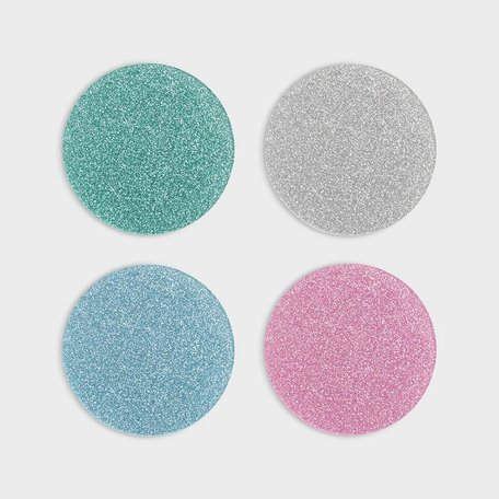 glitter coaster set of 4