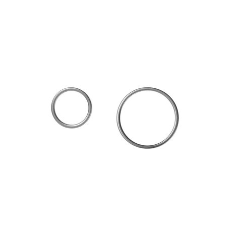 rhodium circle earstuds