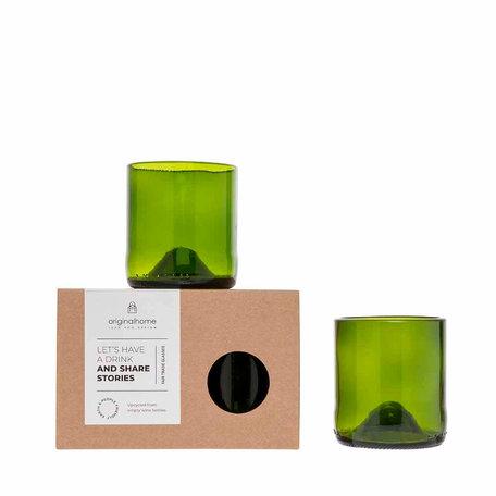 original home glass set green S