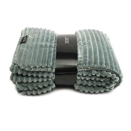 Fleece plaid 125 x 150cm light grey rib