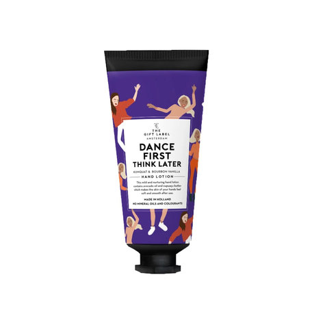 tube handlotion dance first think later