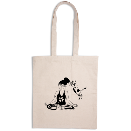 totebag zen with cats