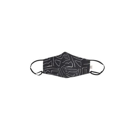 mondkapje safariprint zwart