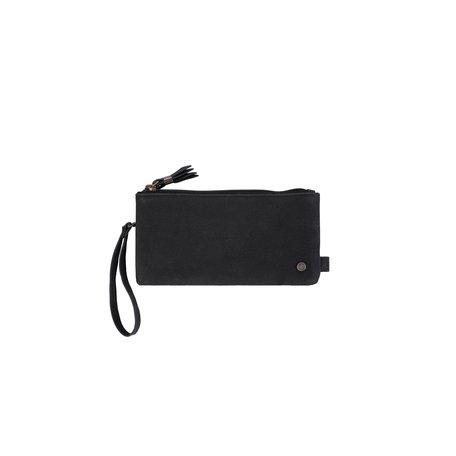dubbele portemonnee zwart