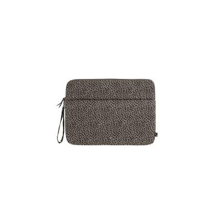 laptopcover grijs-lauw gespikkeld 13 inch