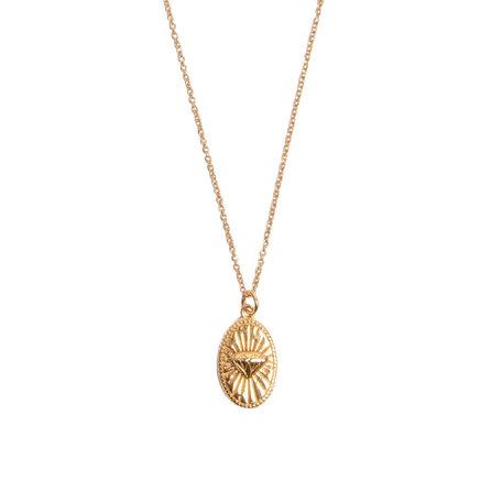 charm necklace diamond oval