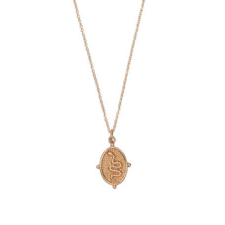 charm necklace snake oval