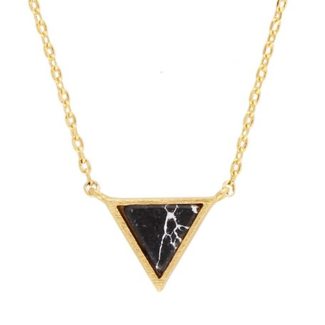 galaxy necklace triangle black