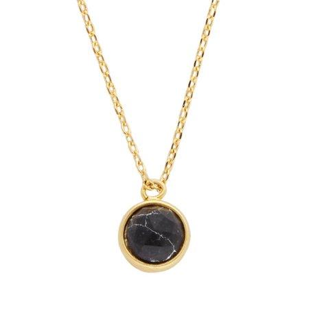 galaxy necklace globe black