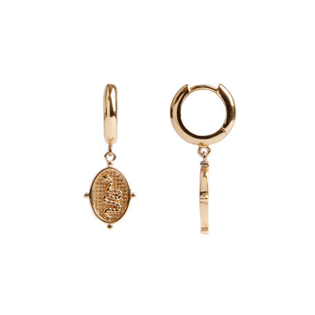 charm earrings oval snake