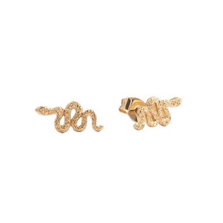 parade earrings snake gold