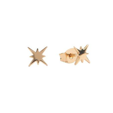parade earrings starburst gold